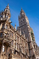 New town hall at Marienplatz in Munich, Germany