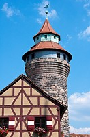 Sinwellturm tower in the Kaiserburg Castle, Nuremburg, Germany