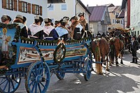 Leonhardi parade in Bad Toelz, Upper Bavaria, Germany