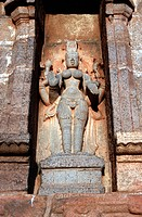 The Indian goddess Parvati, stone relief, India, Asia