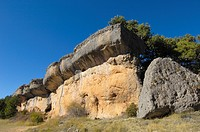 Rock formations at the Enchanted City, La Ciudad Encantada, Cuenca province, Castilla-La Mancha, Spain, Europe