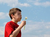 Boy with blowball