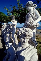 Concrete statues for sale, classical figures, Provence-Alpes-Cote d'Azur, Var, Southern France, France, Europe