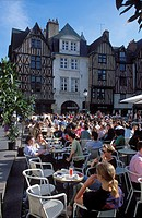 Place Plumereau in Tours Indre et Loire France