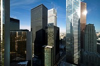 Toronto downtown Bay Street banking district