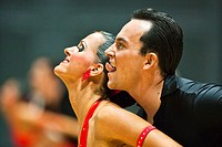 Portrait of dancers at a dancing competition, Germany, Europe