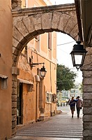 The Porta Guora, the last remaining gate of Rethymno's old city walls  Rethymno, Crete, Greece
