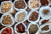 herbal natural medicines vegetal herbs in mexican market