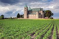 Poland, Polish, Eastern Europe, Central Europe, Europe, European, Architecture, building, Romanesque, collegiate church, 1160s, Tum, Lodz Voivodeship,...