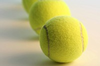 Row of tennis ball