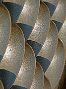 Close Up of Steel sculpture represents Water Drops on Stone Wall, Lavasa, Maharashtra, India
