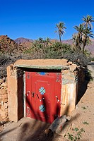 Painted door, Tafraoute, Morocco