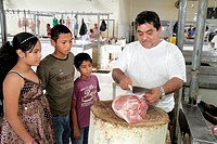 Panama, Panama City, Ancon, Mercado Público, Public Market, covered farmer´s market, stall, merchant, business, retail, selling, shopping, butcher, me...