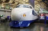 Japanese bullet train in The National Railway Museum, York, England, United Kingdom