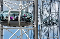 London eye Millennium wheel pods  London  UK