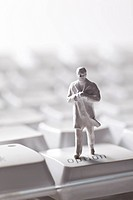 figure on keyboard