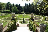 Garden of Konopiste castle in Benesov, Central Bohemia, Czech Republic