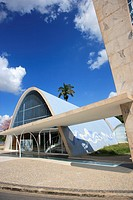 The Church of San Francisco de Assis in Pampulha built by architect Oscar Niemeyer  Belo Horizonte, Minas Gerais, Brazil