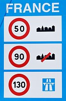 Traffic signs, France