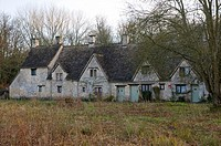 Arlington Row in Bibury, Oxfordshire, in the winter