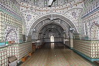 The interior of Star Mosque, locally known as Tara Masjid It is located, at the Armanitola area of the old part of Dhaka city The mosque has ornate de...