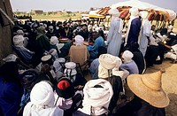 Peuls Bororos or Wodaabes _ Gerewol festival _ Meeting of Tuaregs