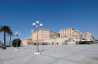Italy, Sardinia, Cagliari, View of Bastione di San Remy