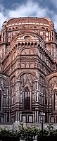 Duomo Basilica Cathedral Church from Giotto's Bell Tower Florence Italy