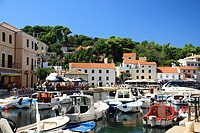 Port in Veli Losinj on Losinj Island, Croatia