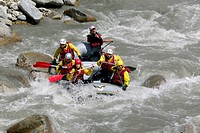 Rafting in June in the gorges of the Guil _ Hautes Alpes _ France