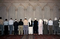 Umayyad Mosque _ Men praying