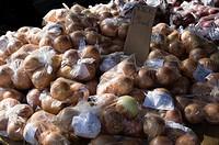Bags of Onions at Calabasas California Farmers Market