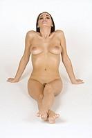 Caucasian female posing nude