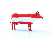 austrian cow 3d illustration