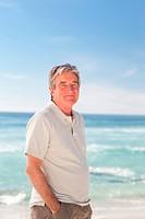 Pensif man on the beach