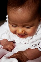 Baby girl laughing