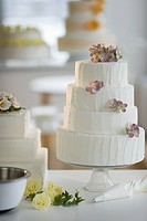 Wedding cake on cake stand