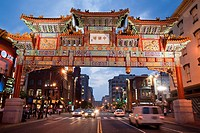 China Town Arch in Washingto, DC