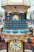 Queen Victoria Building or QVB clock, Sydney, NSW, Australia