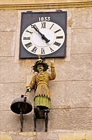 Clock with chinese automaton Town hall Old Aix Aix en Provence 13 France