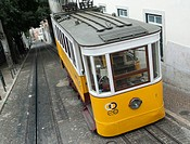 tramway in lisbon, portugal