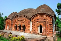 The Twin Temple, in Puthia palace complex, in Puthia, about 18 miles east of the Northern district town of Rajshahi It was built in 1866 May 10, 2008