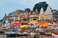 View of the main ghat by the Ganges river