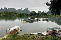 River port of Fuli, Li River, Fuli, Guangxi, China