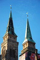 Towers of the Church of St. Lorenz in Nuremberg