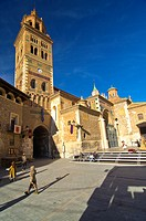 Teruel Cathedral views during the mediaeval love story celebrated every year since 1996 in Teruel is called the celebration of Las Bodas de Isabel de ...