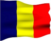 3d flag of Chad isolated in white