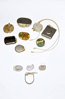 Pacemaker comparison. Collection of implantable pacemakers dating from the 1960s to the present day 2011. Pacemakers are fitted in patients with a mal...