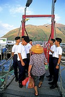 young boys visiting Tai O, village on the west coast of Lantau Island, Islands District, New Territories, Hong-Kong, People's Republic of China, Asia