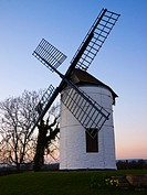Ashton Windmill at dusk  Chapel Allerton, Somerset, England, United Kingdom